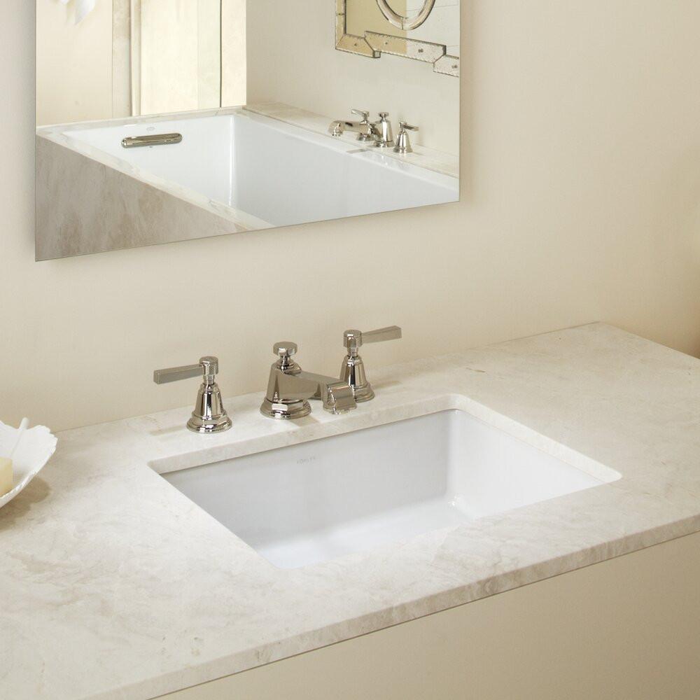 Kohler Bathroom Vanity  Kohler Verticyl Rectangular Undermount Bathroom Sink with