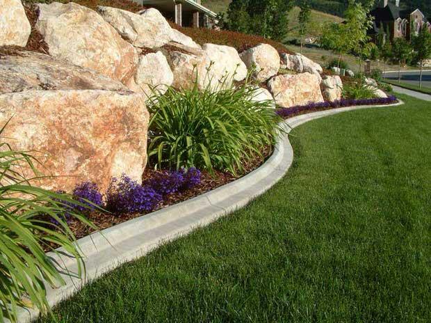 Landscape Edging Ideas  Beautiful & Classic Lawn Edging Ideas