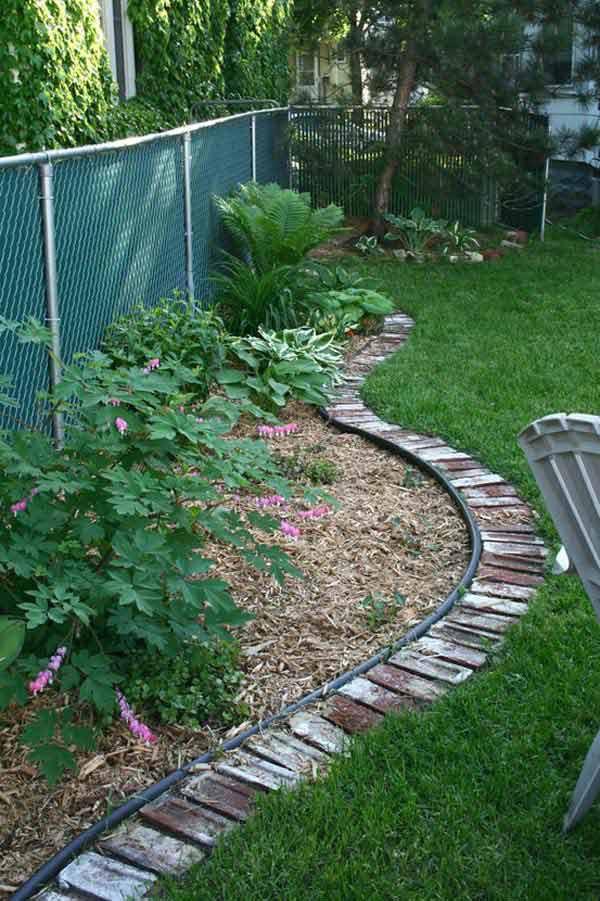 Landscape Edging Ideas  Top 28 Surprisingly Awesome Garden Bed Edging Ideas