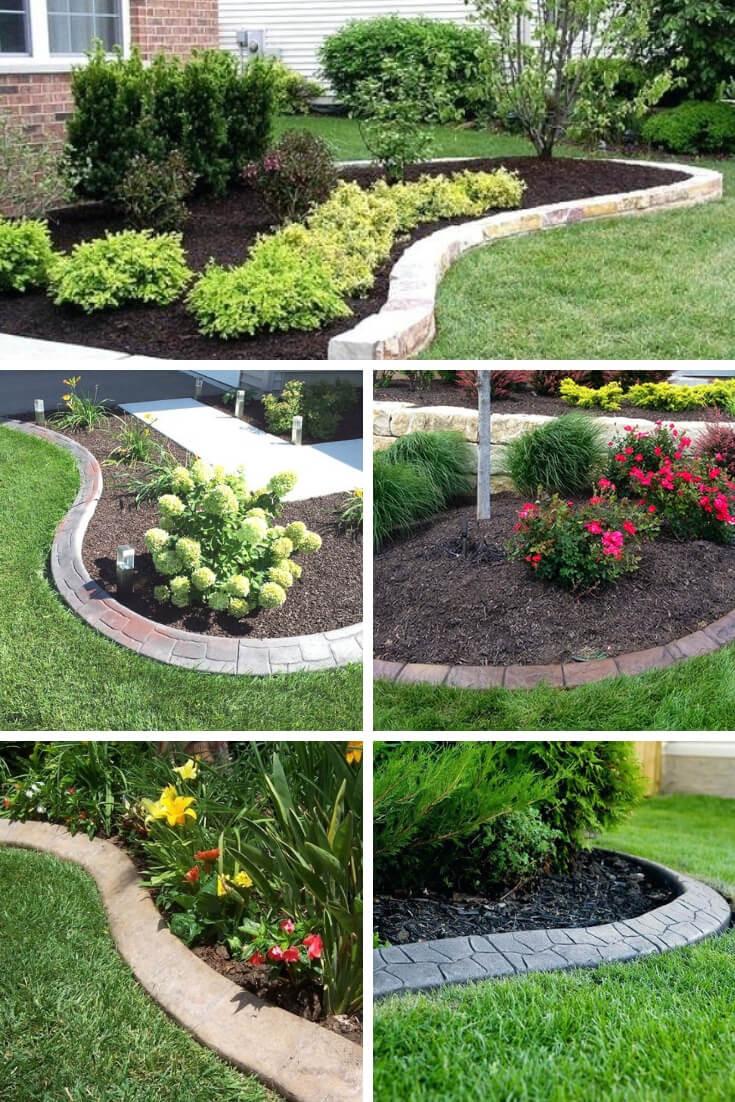 Landscape Edging Ideas  21 Brilliant & Cheap Garden Edging Ideas With