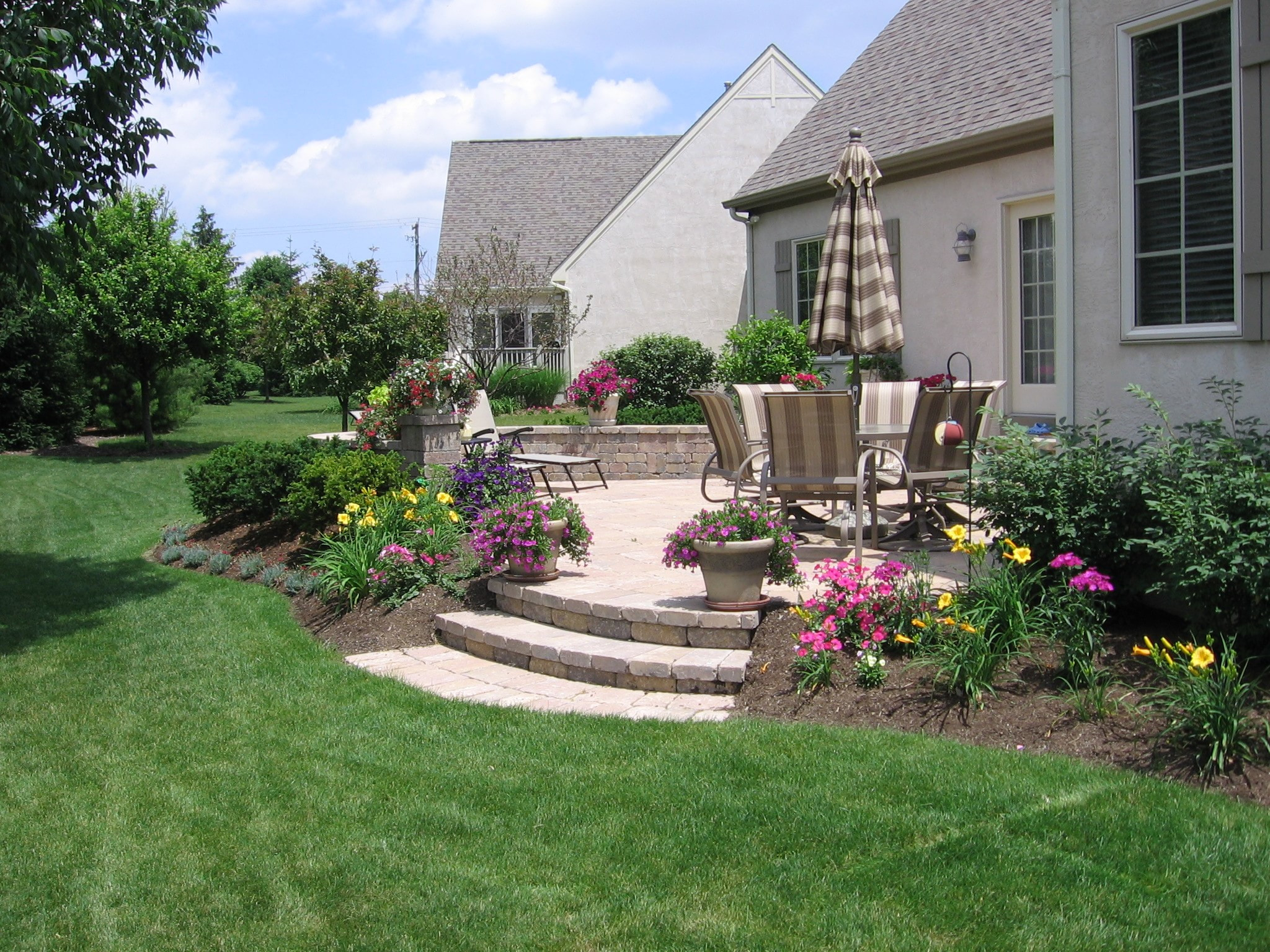 Landscaping Around Patio Luxury Pave Your Way to Better Living Buck and sons Landscape