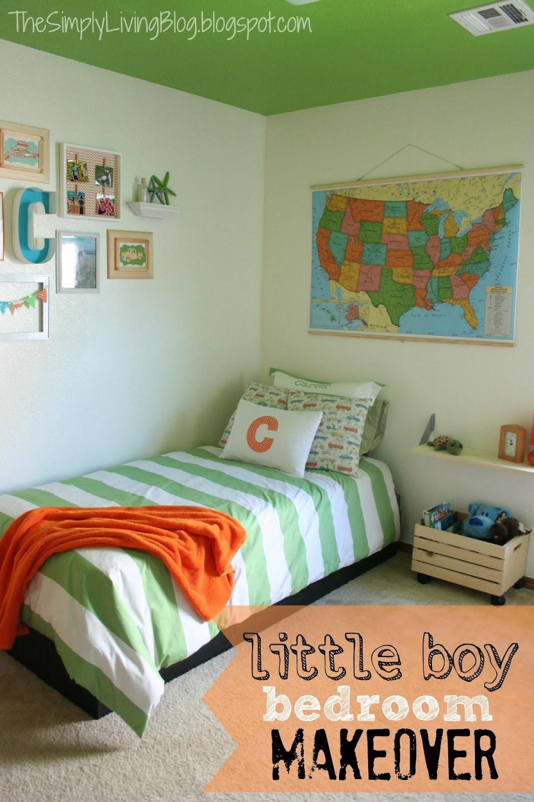 Little Boys Bedroom  Simply Living Little Boy Bedroom Makeover
