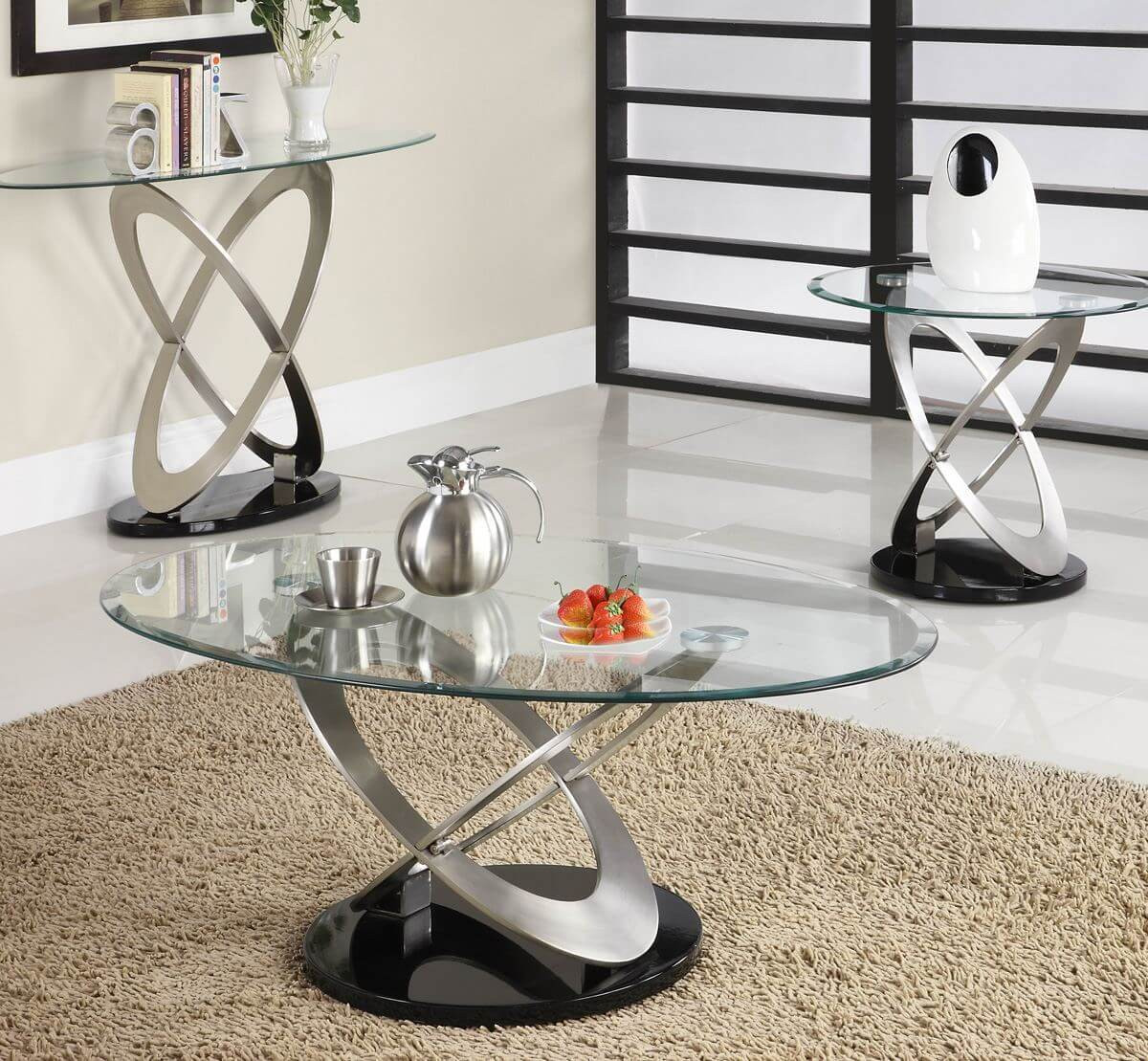 Living Room Glass Table  Glass Sofa Table For A Great Living Room Decor Ideas