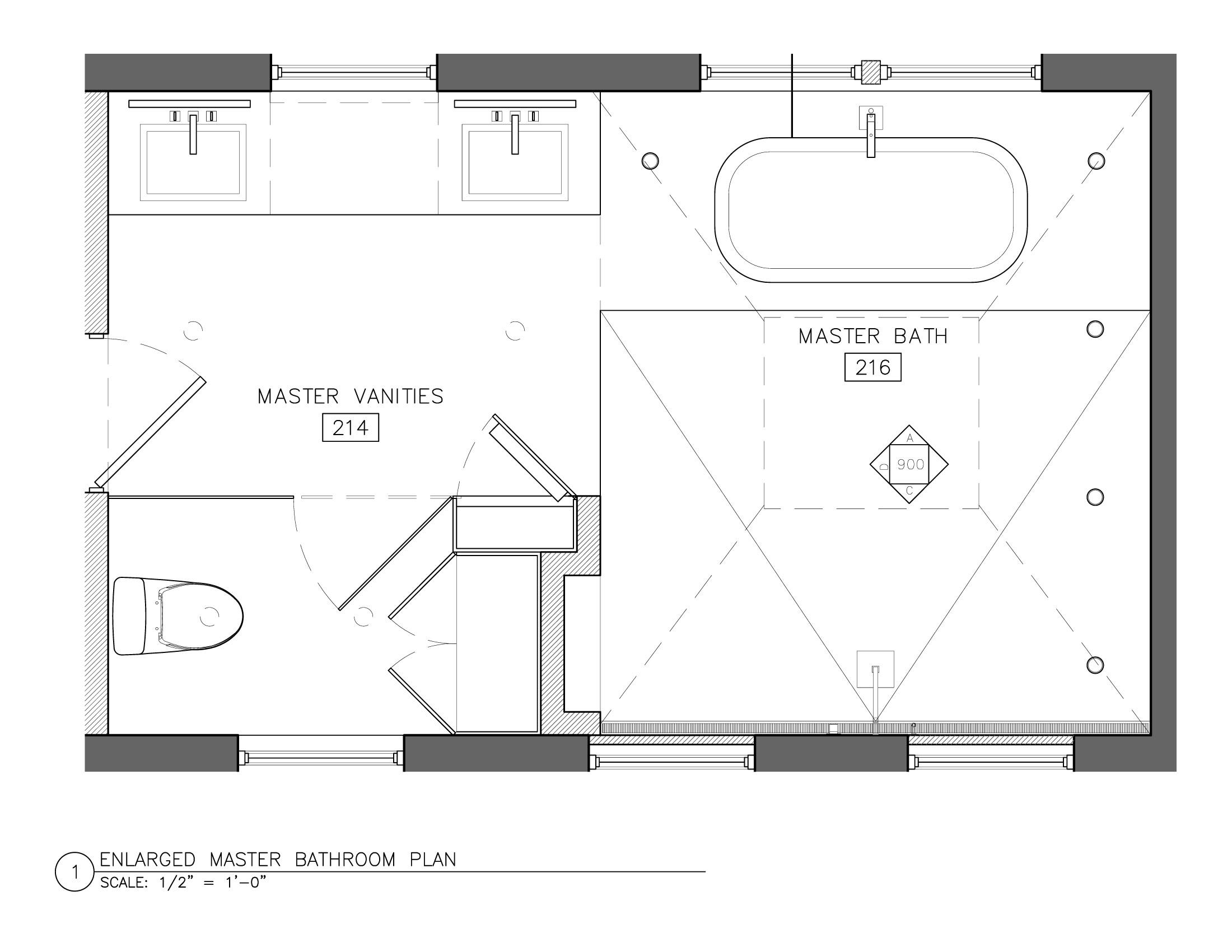 Master Bathroom Plans  Behind The Scenes Bathroom Battles cont Vicente Wolf