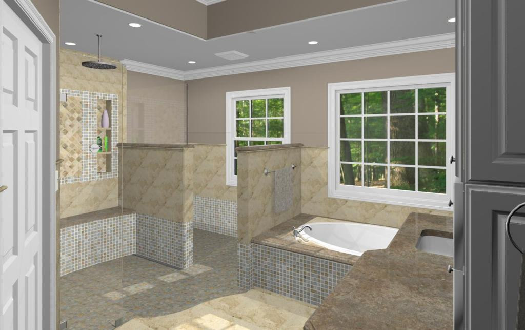 Master Bathroom Plans  Master Bathroom Design Options Plan 3 Design Build