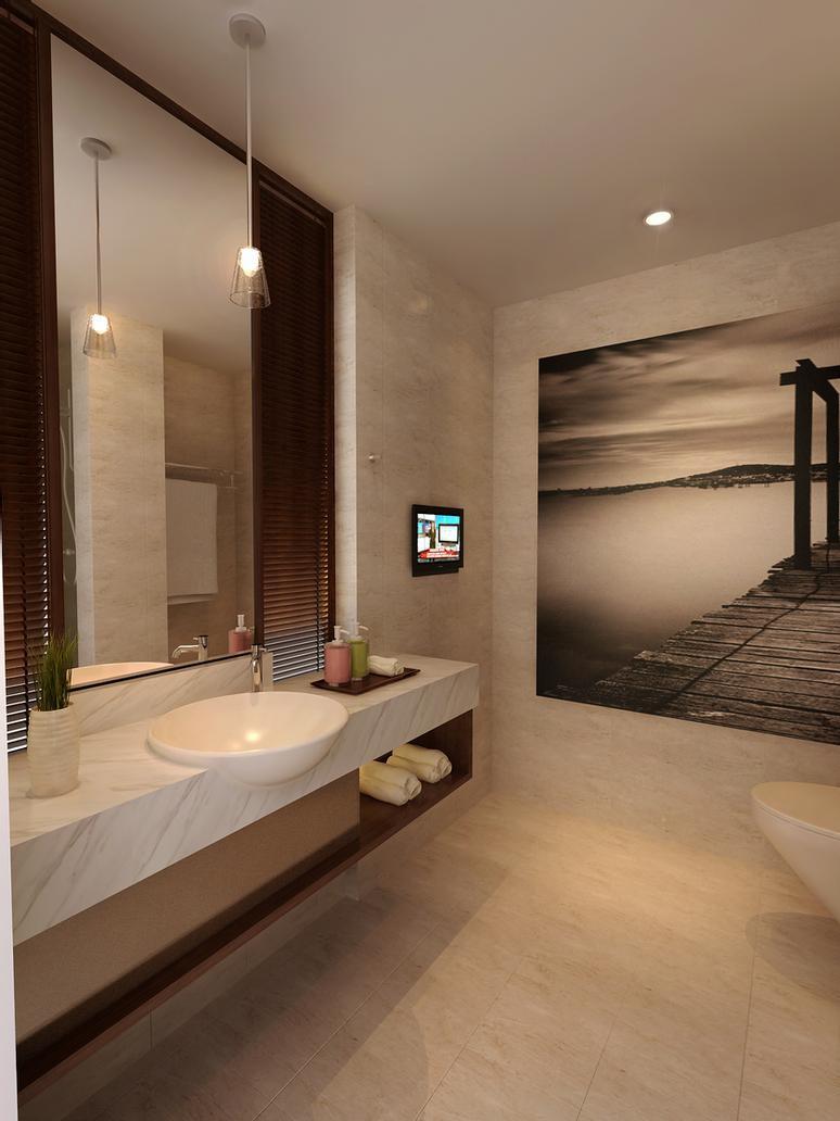 Master Bathroom Without Tub  bathroom without bath tub by 3Dskaper on DeviantArt