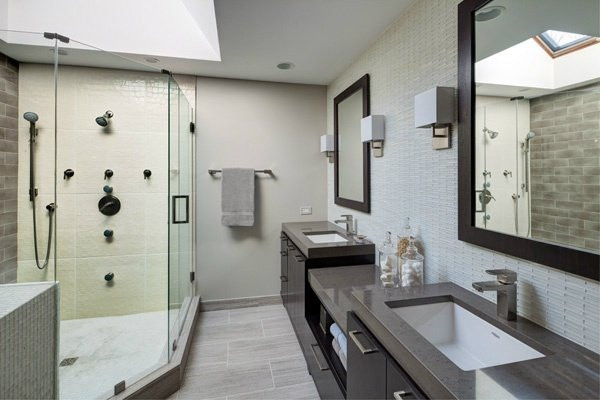 Master Bathroom Without Tub  When remodeling a master bathroom what is more important