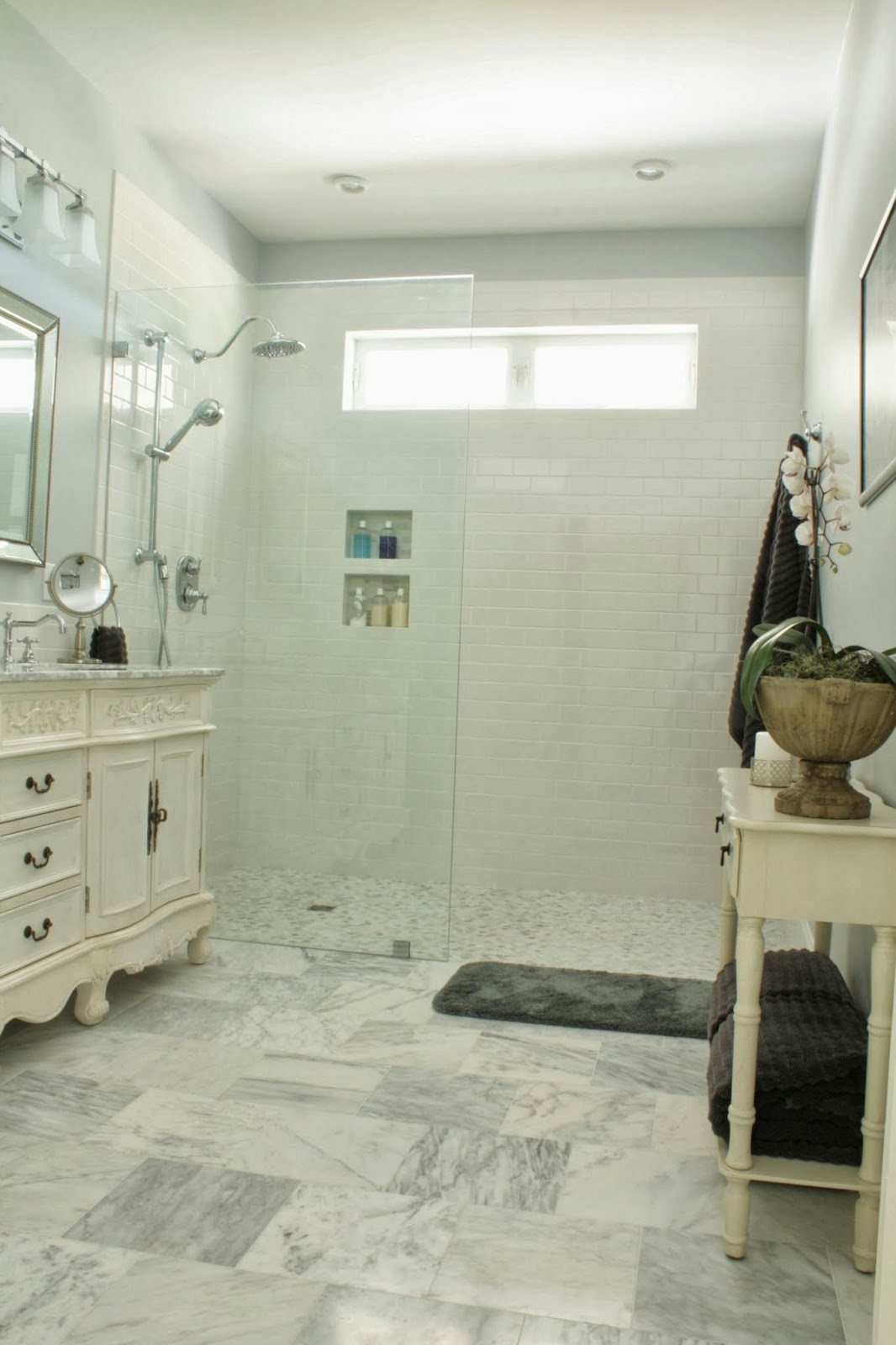 Master Bathroom Without Tub  The forts of Home Master Bath Reveal