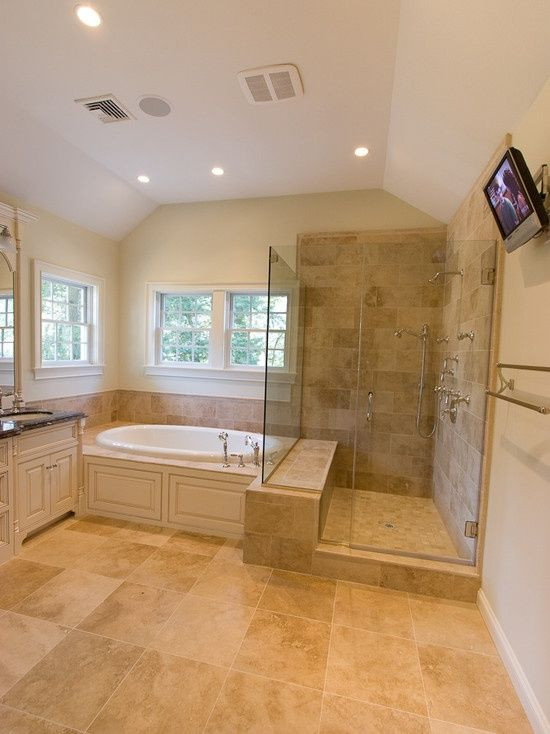 Master Bathroom Without Tub  Illustration of Shower without Door How to Make It Stands