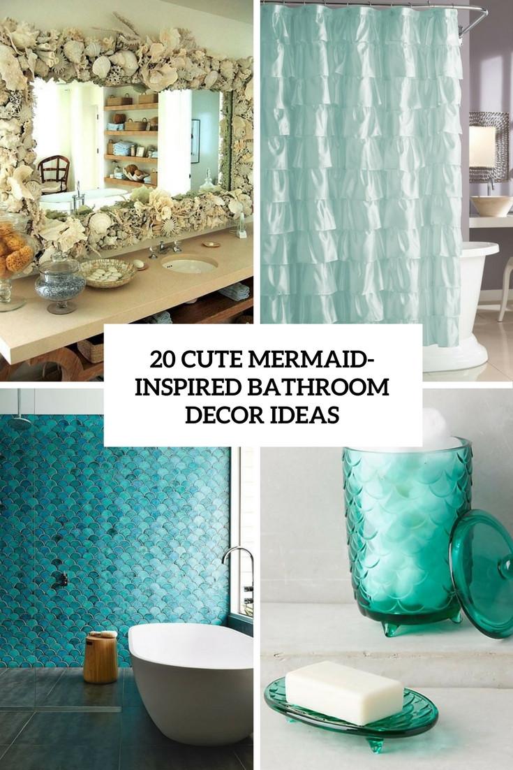 Mermaid Bathroom Decor Luxury 20 Cute Mermaid Inspired Bathroom Décor Ideas Shelterness