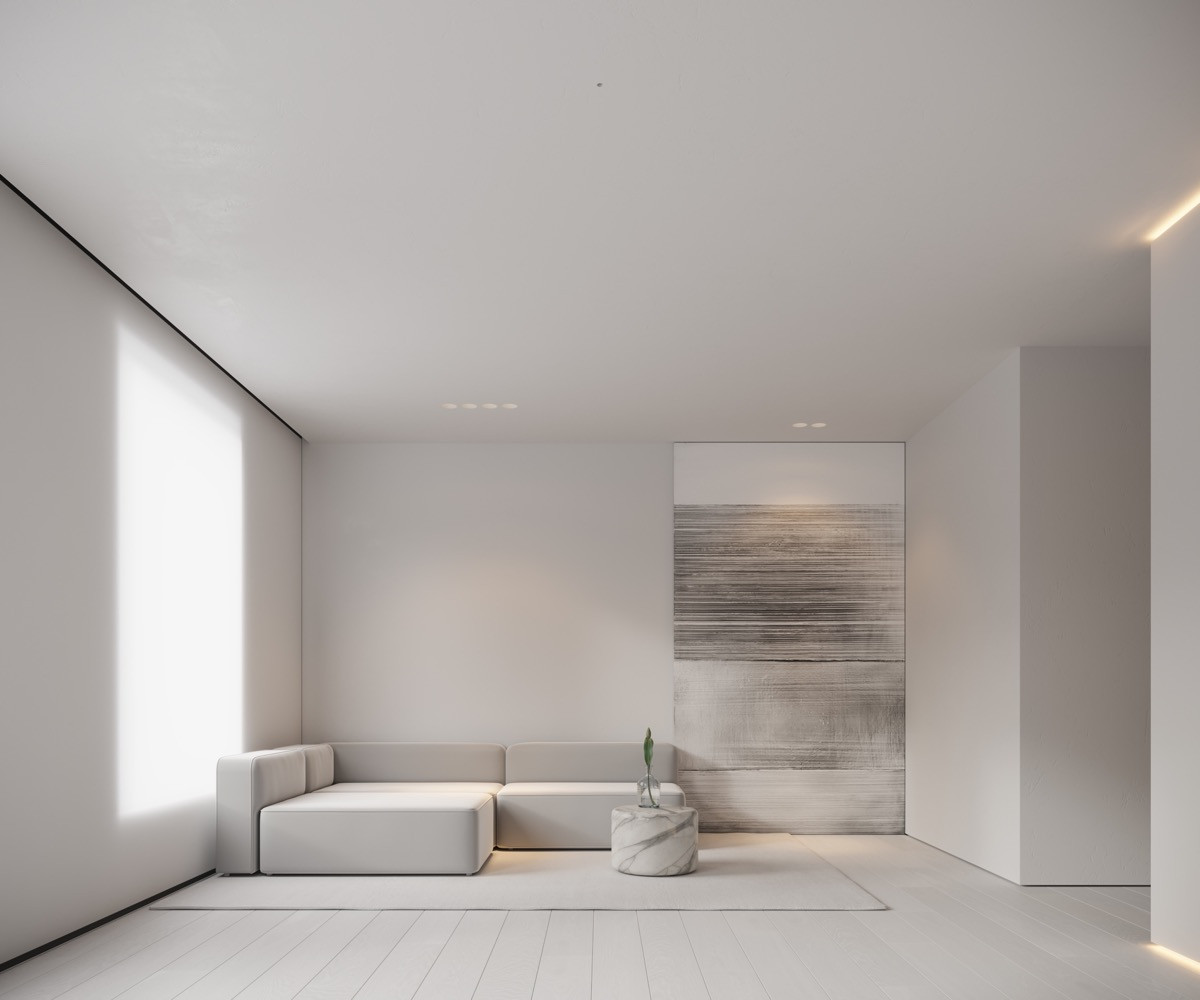 Minimalistic Living Room  Neutral Modern Minimalist Interior Design 4 Examples