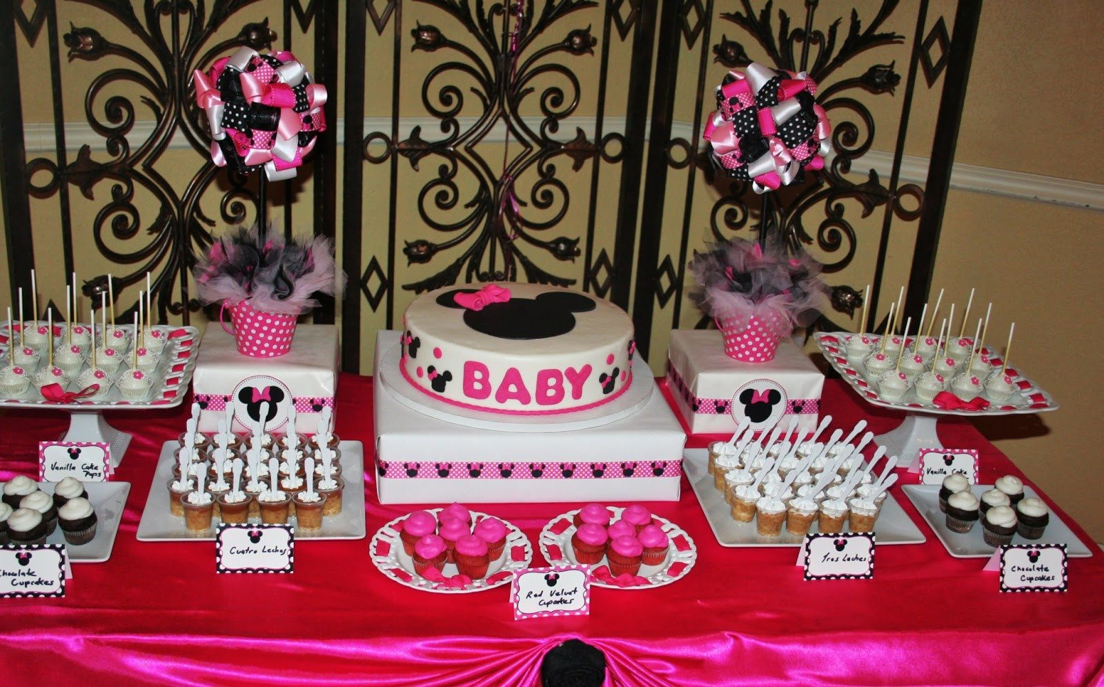 Minnie Mouse Baby Shower Decorations Ideas Lovely Baby Minnie Mouse Baby Shower Decorations