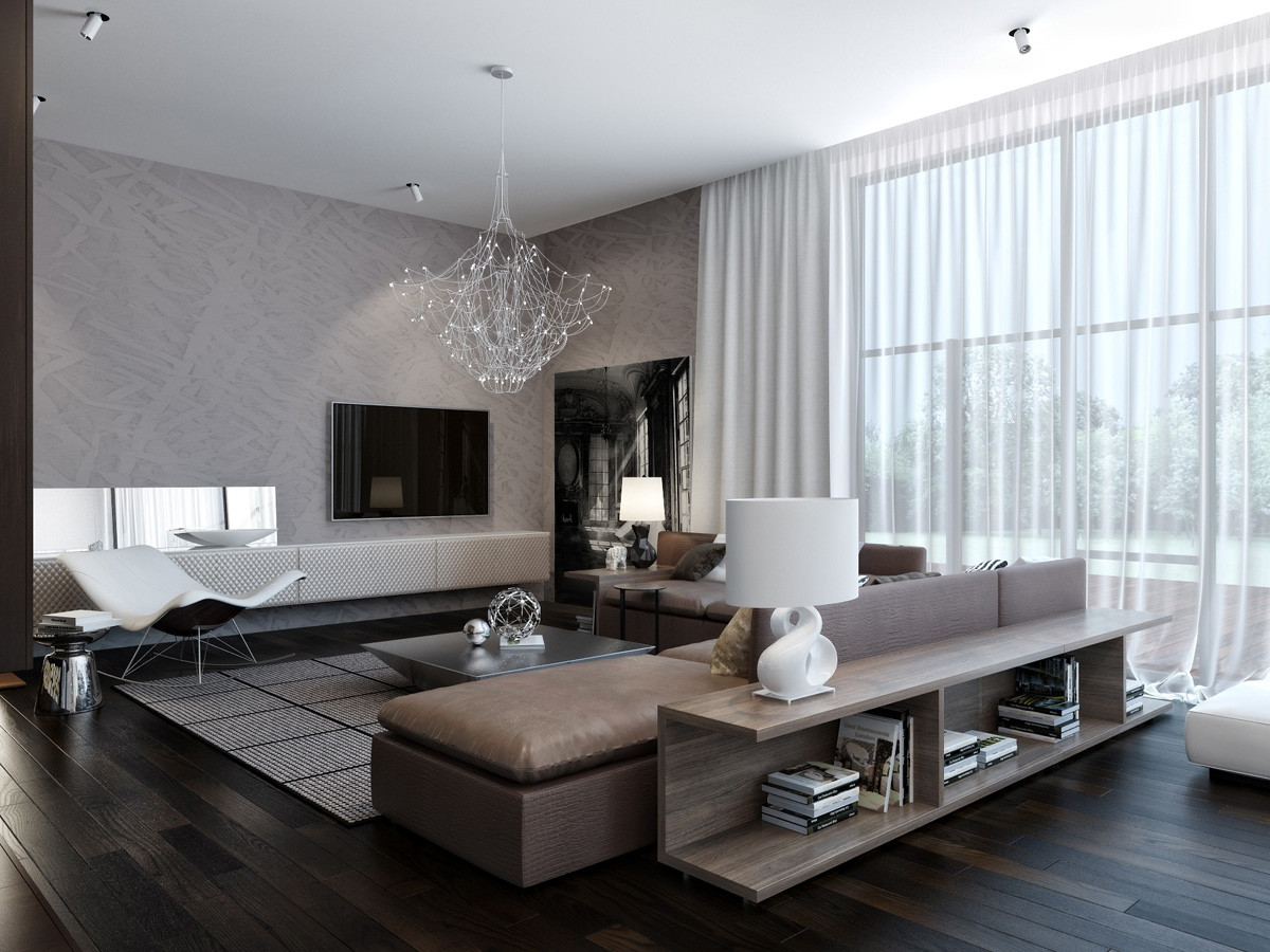 Modern Living Room  Modern House Interiors With Dynamic Texture and Pattern