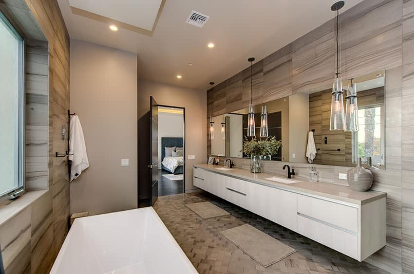 Modern Master Bathroom  15 Bathroom Pendant Lighting Design Ideas Designing Idea