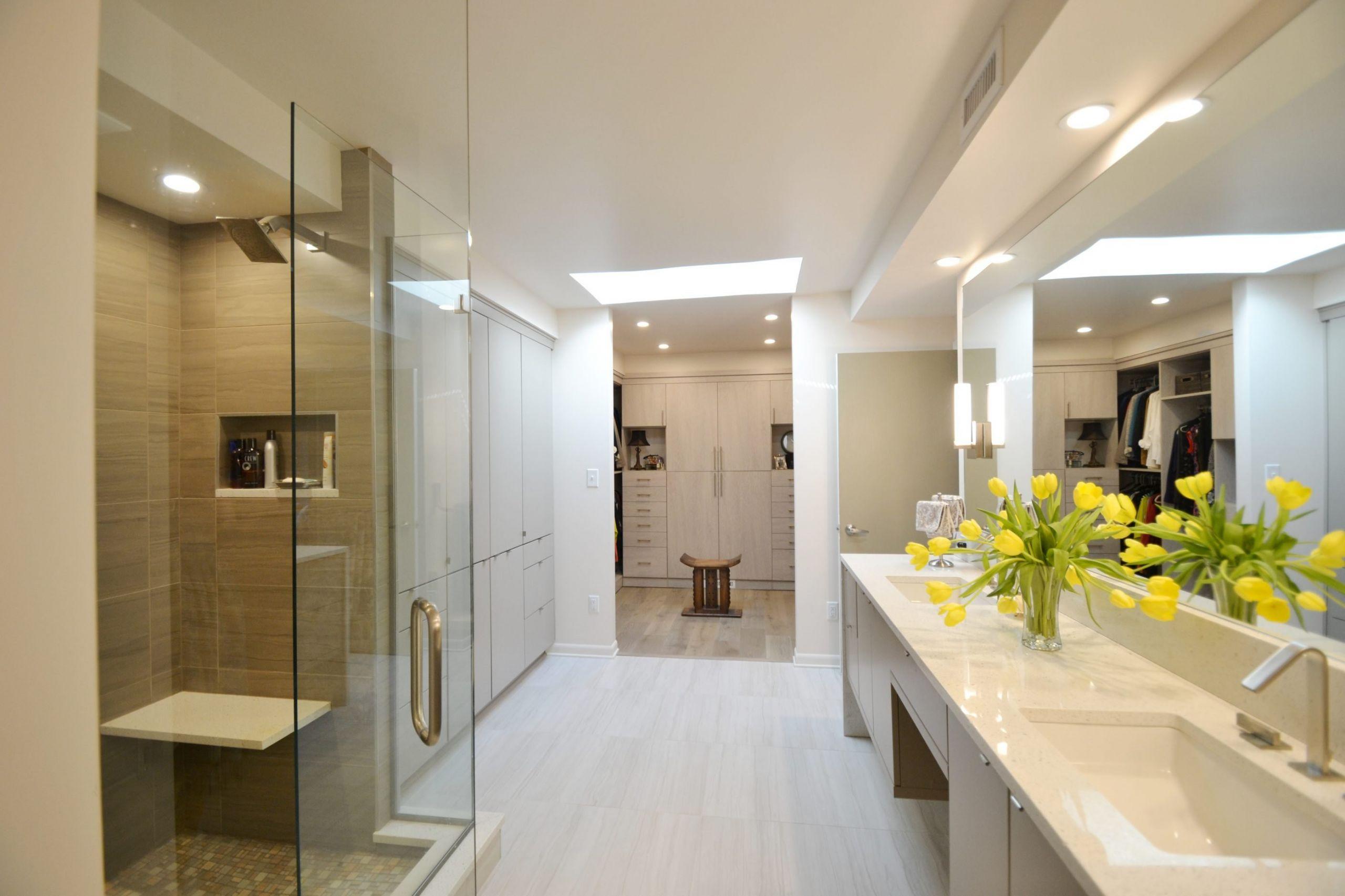 Modern Master Bathroom  Mid Century Modern Master Bathroom ACO