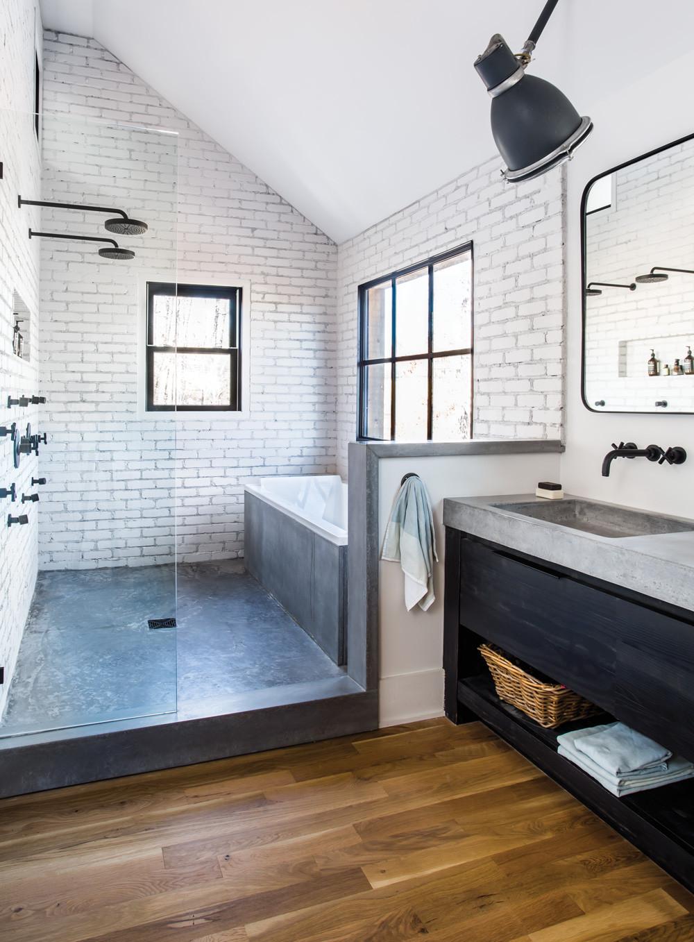 Modern Master Bathroom  Room Envy At Serenbe a master bath with a modern