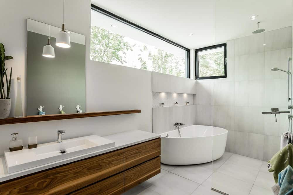 Modern Master Bathroom  50 Sleek Modern Master Bathroom Ideas for 2019