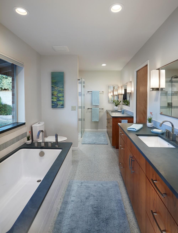 Modern Master Bathroom  Bathroom remodel Tucson