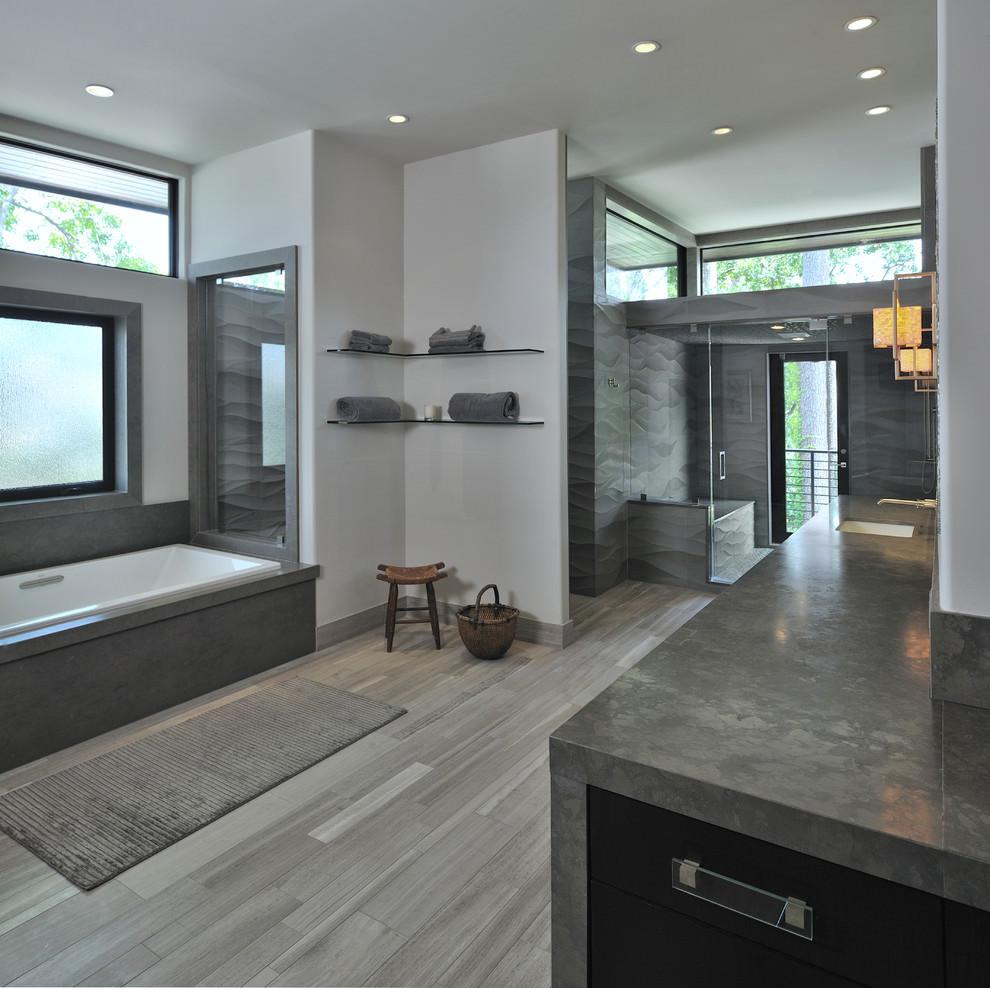 Modern Master Bathroom  22 Stylish Grey Bathroom Designs Decorating Ideas