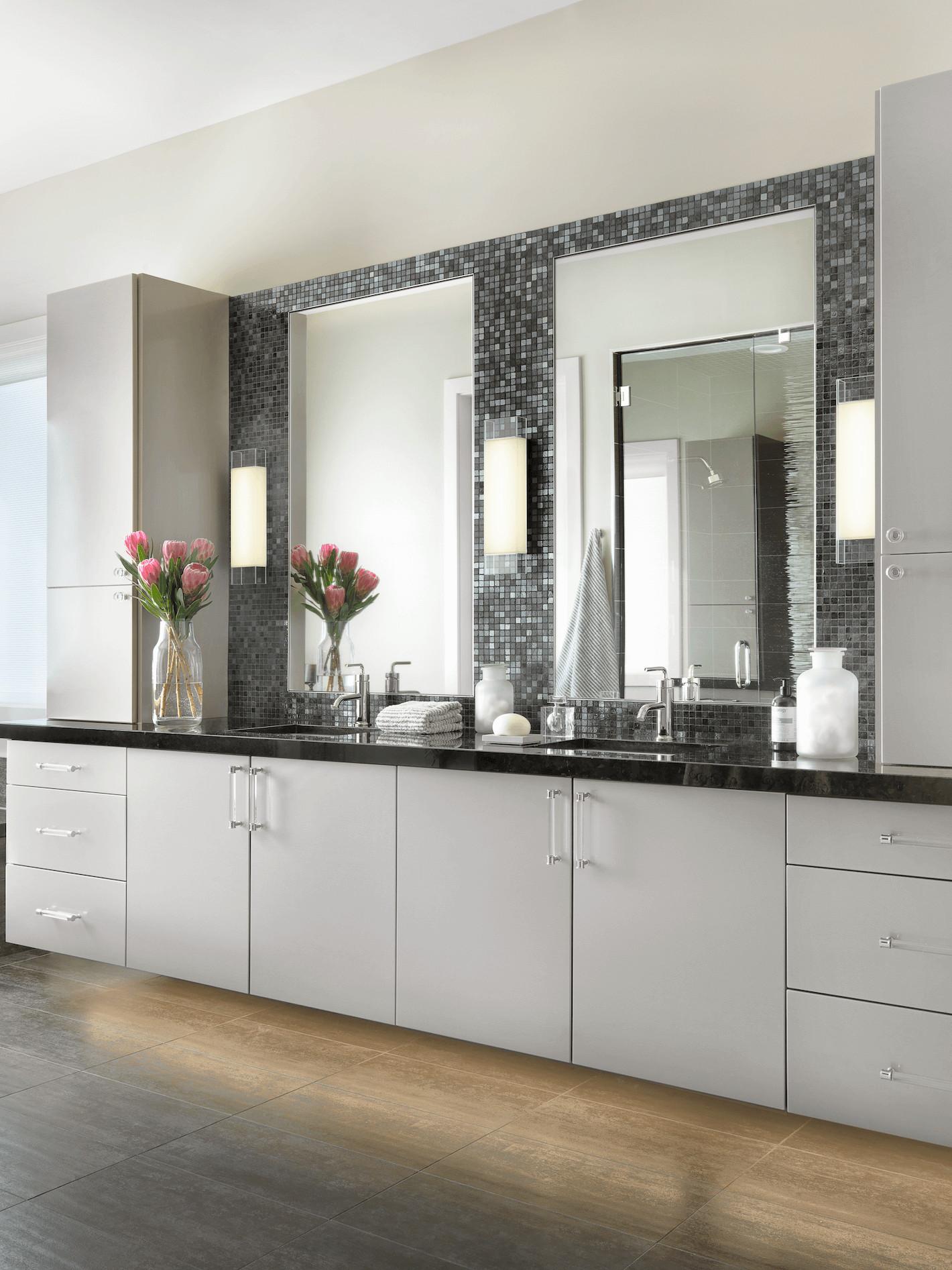 Modern Master Bathroom  Contemporary Master Bathroom Beck Allen Cabinetry