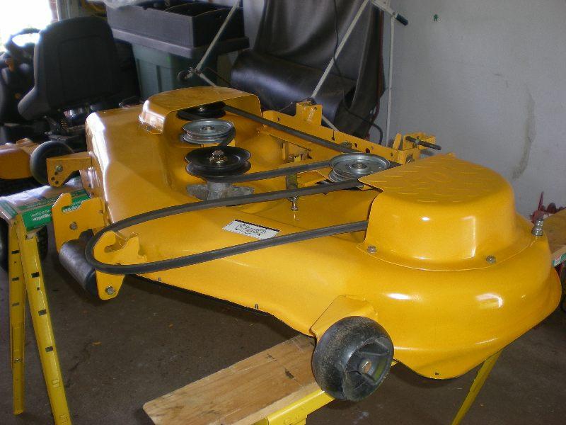 Mower Deck Paint  How to best strip rust paint grassgoo from mower deck