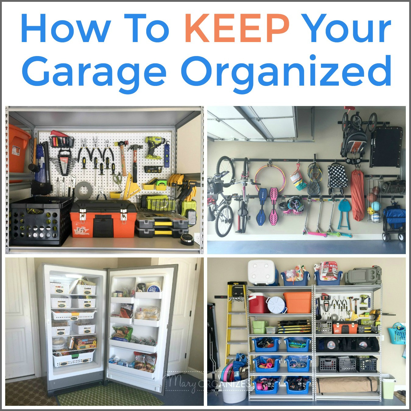 Organize Your Garage  Organize Your Garage ONE WEEK All About The Garage