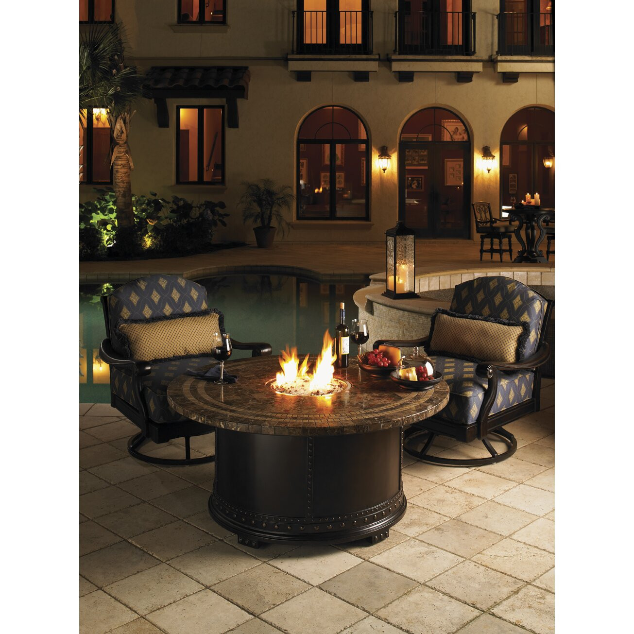 Outdoor Gas Fire Pits  Kingstown Sedona Gas Fire Pit