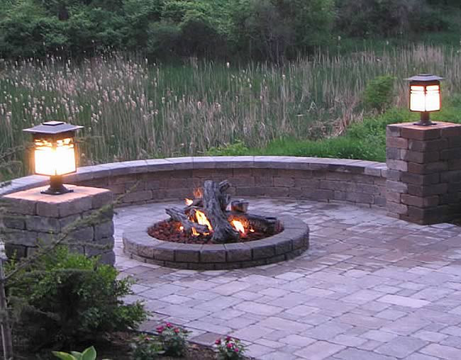 Outdoor Gas Fire Pits  54 Inch Round Outdoor Gas Fire Pit