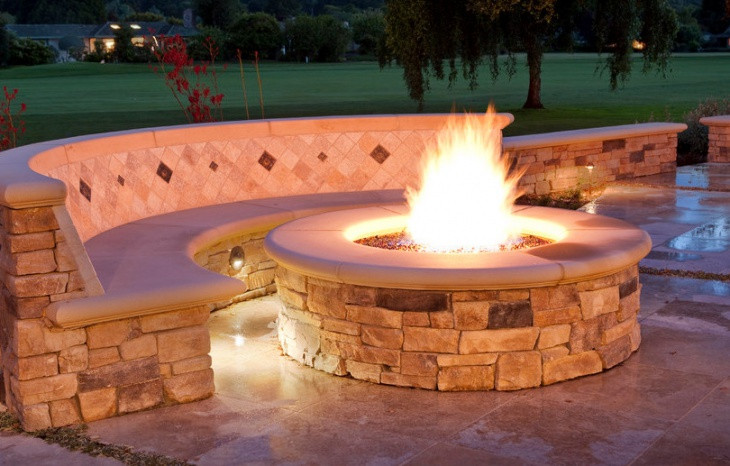 Outdoor Gas Fire Pits  21 Outdoor Fire Pit Designs Ideas