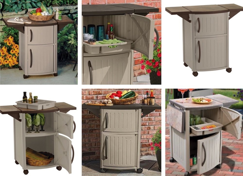 Outdoor Kitchen Prep Station  Suncast Outdoor Prep Station 8 Best Buys for an Outdoor