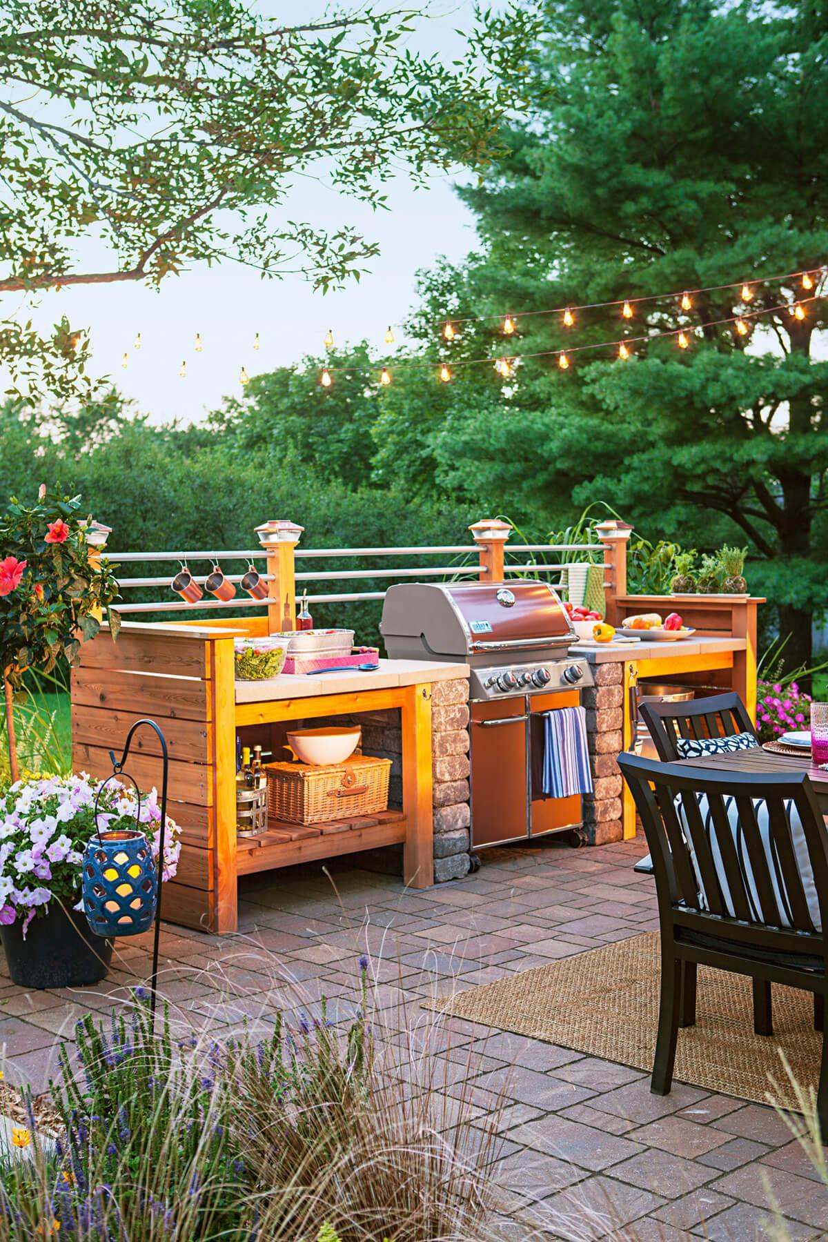 Outdoor Kitchen Prep Station  27 Best Outdoor Kitchen Ideas and Designs for 2020