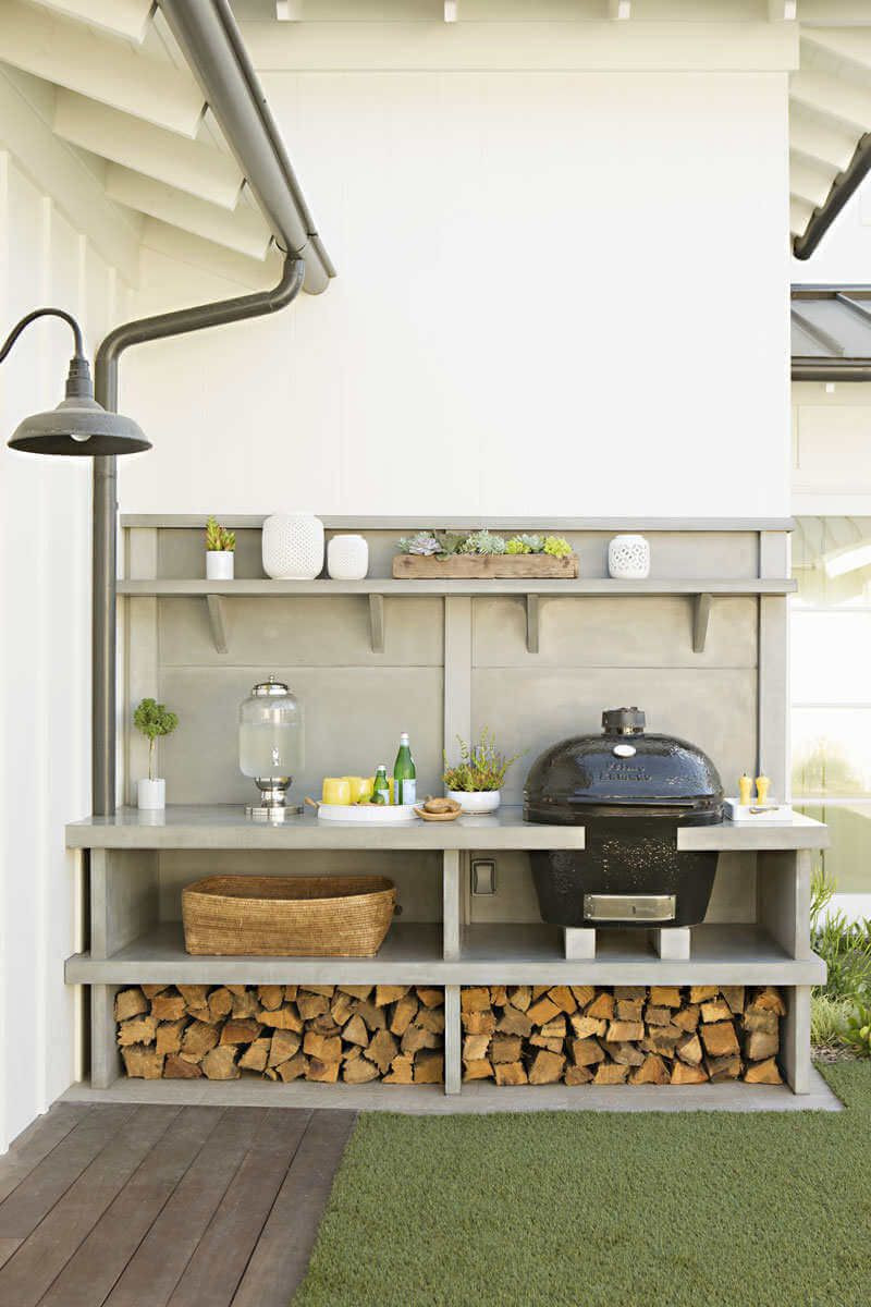 Outdoor Kitchen Prep Station  Outdoor Food Prep Station for Small Spaces