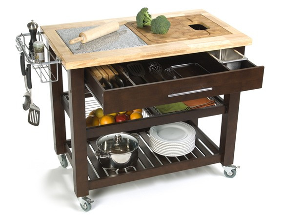 """Outdoor Kitchen Prep Station  Pro Chef 23 75x40 5"""" Food Prep Station Home Woot"""