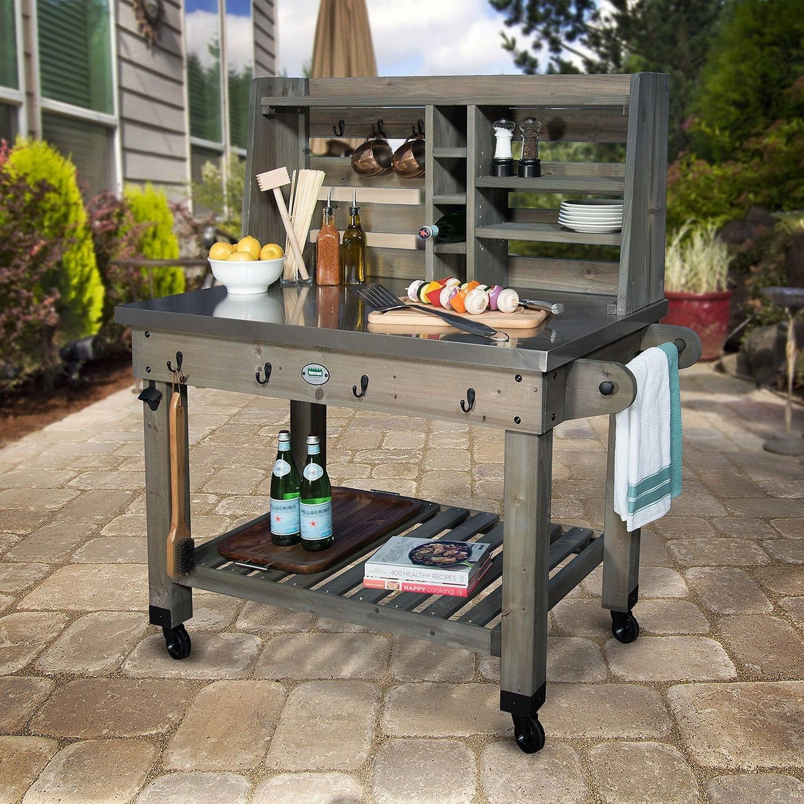 Outdoor Kitchen Prep Station  Seamlessly bining utility in an urbane design it s an