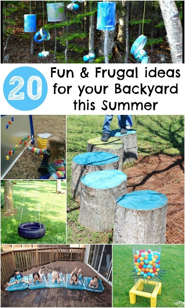 Outdoor Landscape Fun  20 Fun and Frugal ideas for your Backyard this Summer In