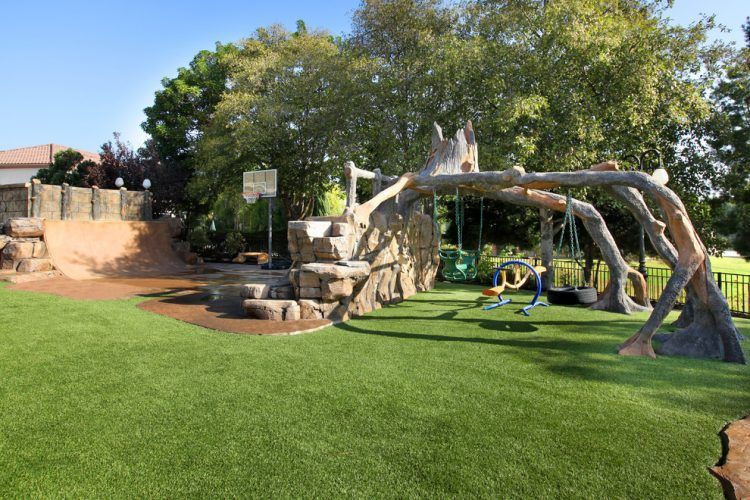 Outdoor Landscape Fun  20 The Coolest Backyard Designs With Playgrounds
