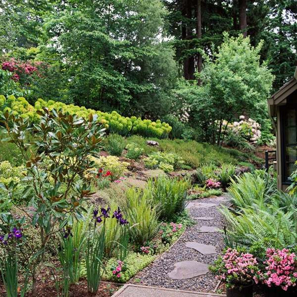 Outdoor Landscape Hill  Landscaping on a slope – How to make a beautiful hillside