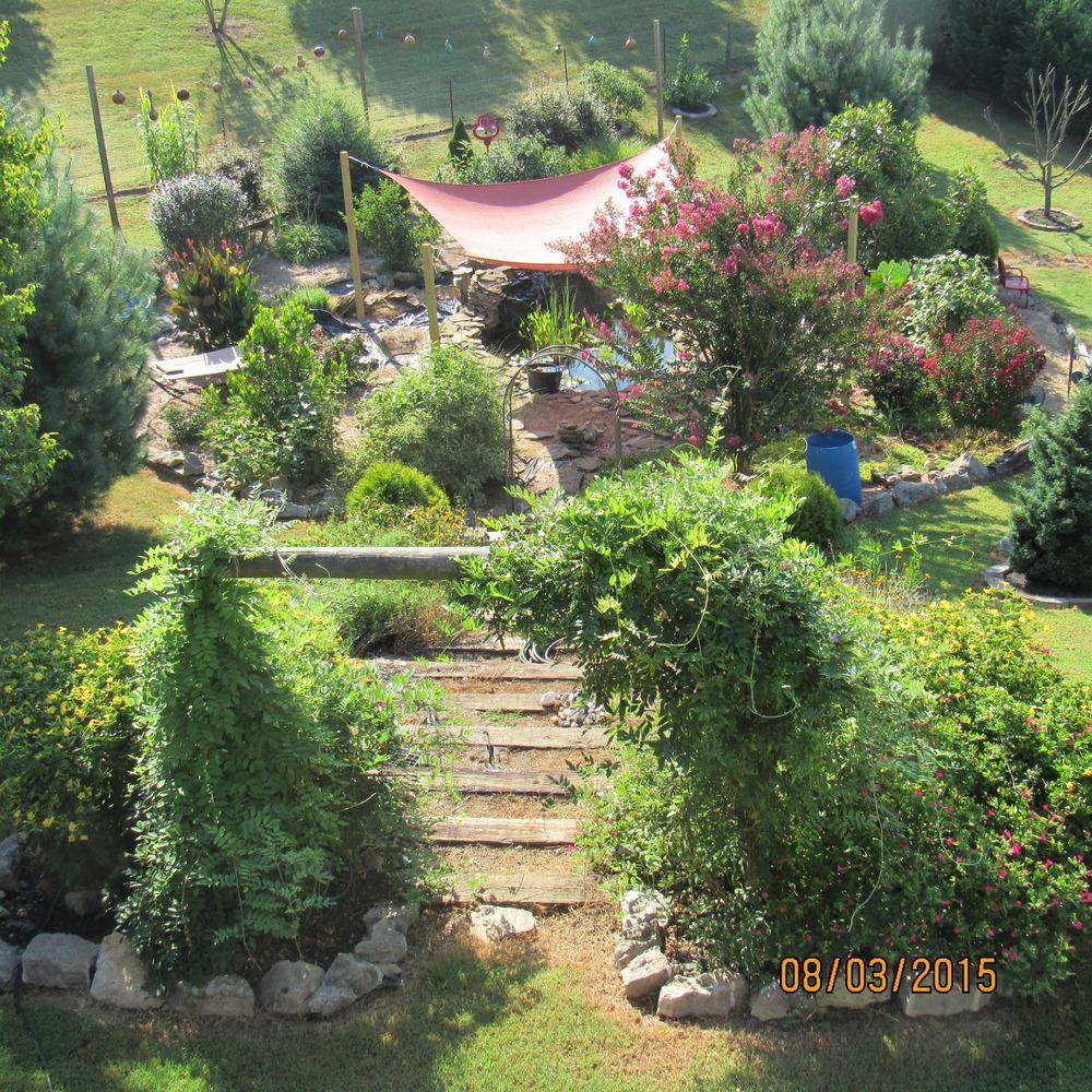 Outdoor Landscape Hill  Gardening on a Hill Garden