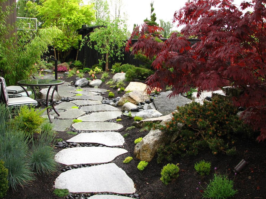 Outdoor Landscape Hill  Private Japanese Garden Landscaping Network