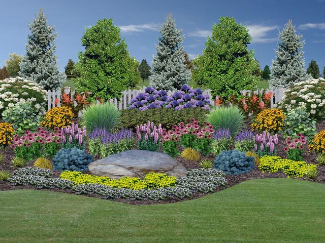 Outdoor Landscape Hill  Landscape Design Rogers Spring Hill Garden Center