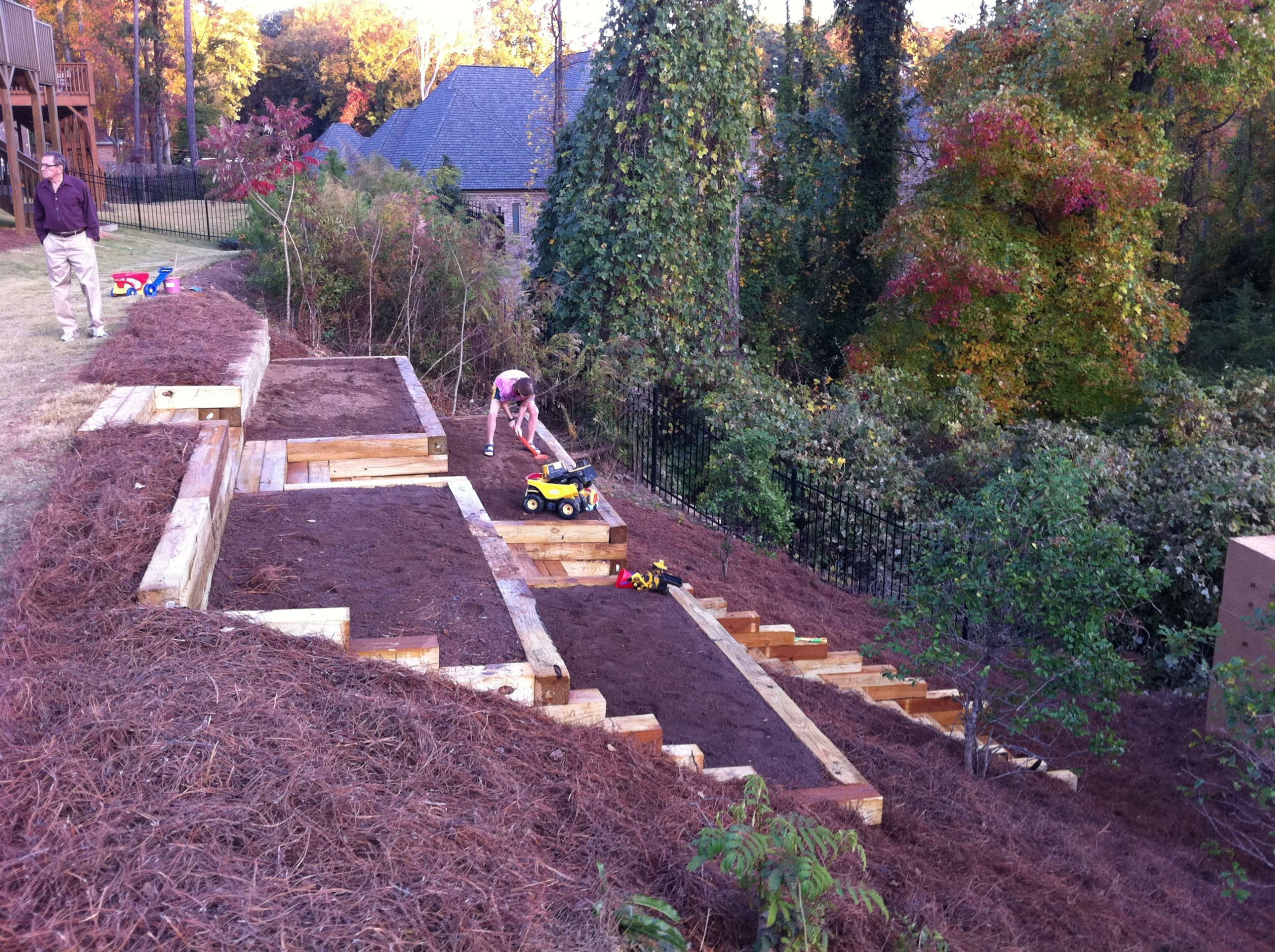 Outdoor Landscape Hill  Kati's Square Foot Gardening Plan–Abundant Boxes – My