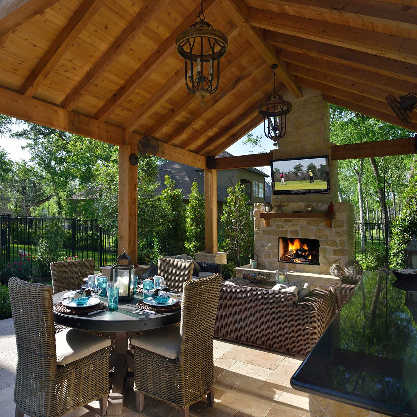 Outdoor Living Space Ideas  Houston Outdoor Living Space Contractor