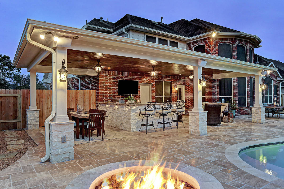 Outdoor Living Space Ideas  Friendswood Outdoor Living Space Texas Custom Patios