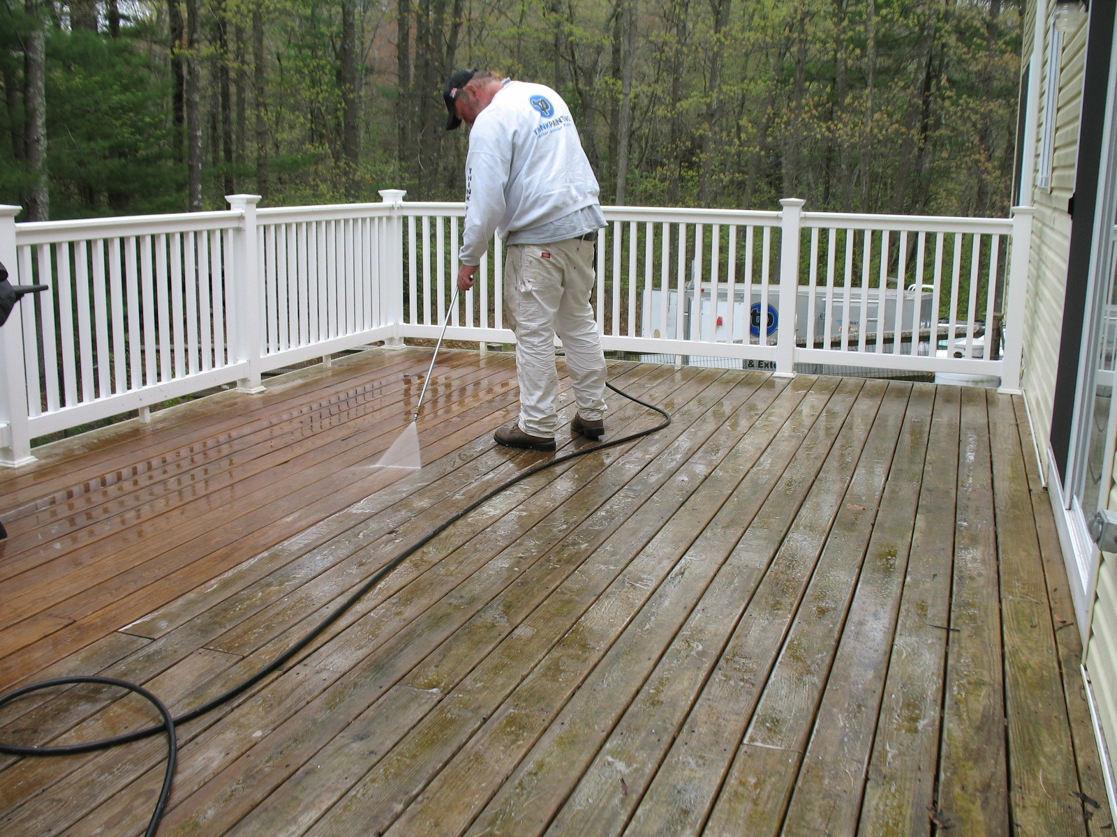 Paint Or Stain Deck  Deck Staining in Massachusetts Think Painting