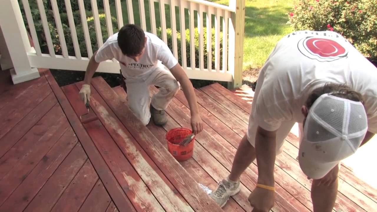 Paint Or Stain Deck  Is It Better to Paint or Stain a Wood Deck [VIDEO] The