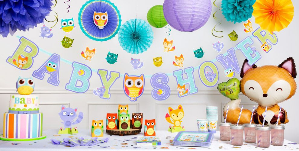 Party City Baby Shower Decorations  Woodland Baby Shower Decorations Party City