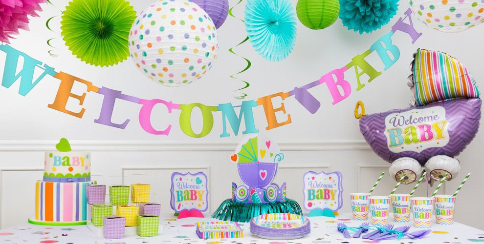 Party City Baby Shower Decorations  Bright Wel e Baby Shower Decorations Party City