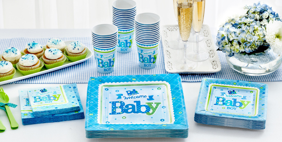 Party City Baby Shower Decorations  Wel e Baby Boy Baby Shower Party Supplies Party City