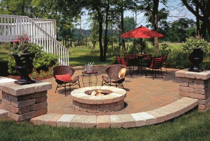 Patio With Fire Pit Ideas  Outdoor Fire Pit Seating Ideas Quiet Corner