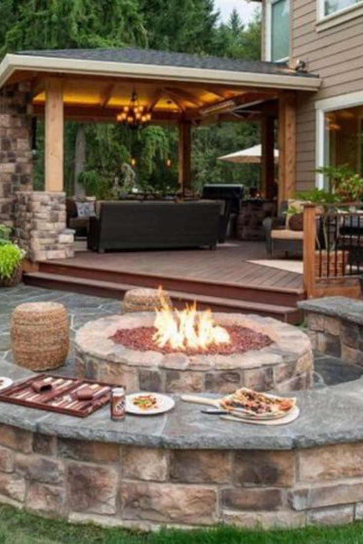 Patio With Fire Pit Ideas  Backyard Fire Pit Ideas and Designs for Your Yard Deck or